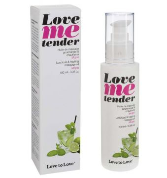 Huile de massage Love Me tender parfum Mojito - 100 ml